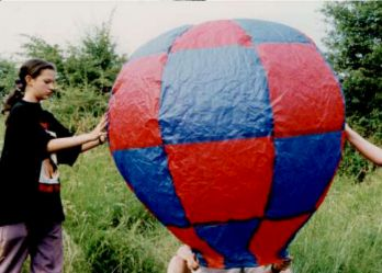 Homemade Paper Hot Air Balloon